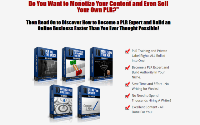 Arun's PLR on PLR
