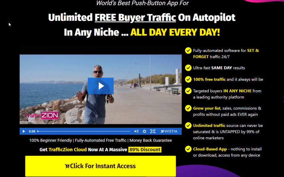 Traffic Zion Sales